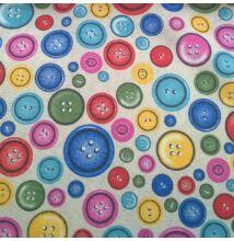 Bútorvászon – Színes gomb mintával