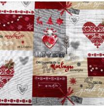 Bútorvászon – Színes karácsonyi patchwork mintával, LONETA