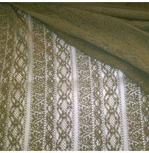 Elasztikus csipke – Keki színben, csíkos mintával