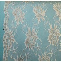 Elasztikus csipke – Fehér színben, nagyméretű virág mintával, bordűrrel