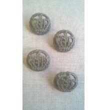 Fém gomb – Vintage korona mintával