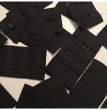 Melltartó hosszabbító – Kétsoros, fekete színben