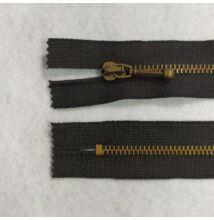 Fém cipzár – VT10-es, zárt, 13 cm hosszú, antik