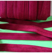 Gumiszalag – Szegőgumi bordó színben, 16mm