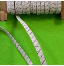 Gumiszalag – Kereszt szövött csőgumi nyers színben, 7mm