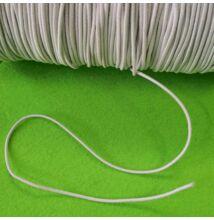 Gumiszalag – Hengeres kalapgumi fehér színben, 1,5mm