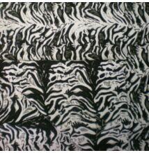 Kétoldalú kabátszövet – Tigris csíkos mintával
