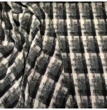 Gyapjú szövet – Szürke kockás mintával