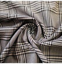 Műszálszövet – Szürke alapon fekete kockás mintával