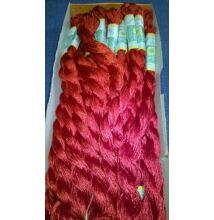 Suncokret hímzőfonal – piros színben