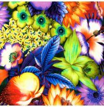 Jég jersey – Trópusi virágkavalkád mintával