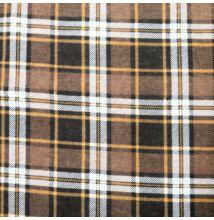 Flanel – Skótkockás mintával, barna árnyalatban