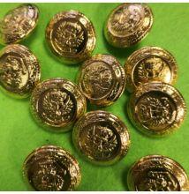 Fém gomb – Arany színű madaras címer mintával, 20mm