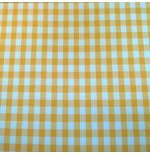 Minimat – Panama szövet, sárga kockás mintával