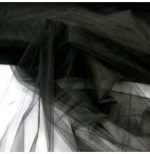 Tüll – Fekete színben, extra széles