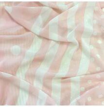 Muszlin – Pöttyös és csíkos mintával, púder színben