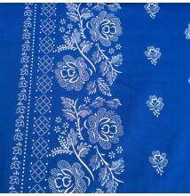 Pamutvászon – Kékfestő bordűrös mintával