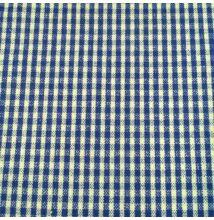 Pamutvászon – Kék-fehér apró kockás mintával