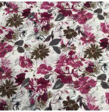 Selyem – Nagy virágos mintával, rózsaszín árnyalatban