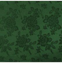 Jacquard 313 – Nagyméretű rózsa mintával, zöld színben