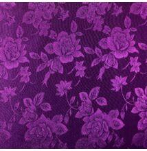 Jacquard 313 – Nagyméretű rózsa mintával, lila színben