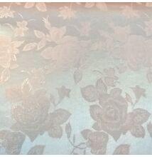 Jacquard 313 – Nagyméretű rózsa mintával, púder színben