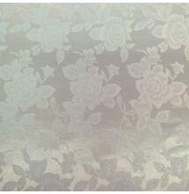 Jacquard 313 – Nagyméretű rózsa mintával, fehér színben