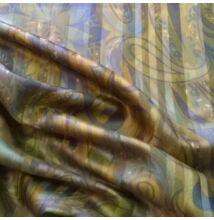 Pamut szatén – Török stílusú mintával, mustár árnyalatban