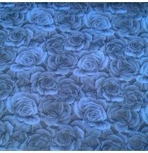 Jacquard – 3D rózsa mintával, sötétkék színben