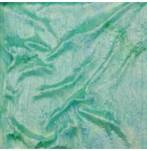 Szatén – Zöld és kék batikolt mintával, gyűrt
