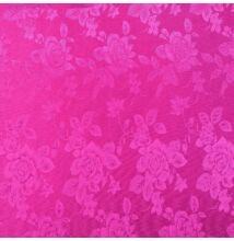 Jacquard 313 – Nagyméretű rózsa mintával, pink színben