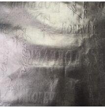 Vízlepergető anyag – Feliratos mintával, ezüst színben