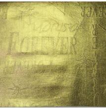 Vízlepergető anyag – Feliratos mintával, arany színben