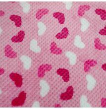Wellsoft (Léda) – Jacquard szövésű, rózsaszín alapon szívecske mintás