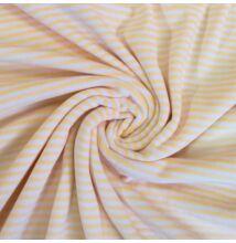 Bébiplüss – Citromsárga-fehér csíkos mintával