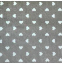 Wellsoft (Léda) – Szürke alapon fehér szívecske mintával