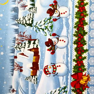 Bútorvászon – Téli tájkép mintával, bordűrös