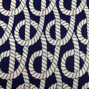 Bútorvászon – Fehér hajókötél mintával, LONETA