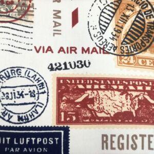 Bútorvászon – Színes bélyeg mintával