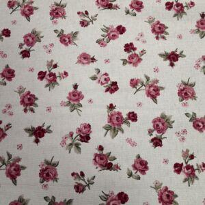 Bútorvászon – Bordó rózsa mintával