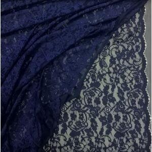 Elasztikus csipke – Sötétkék színben, bordűrrel