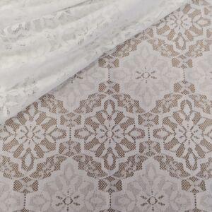 Elasztikus csipke – Törtfehér színben, rombusz mintával
