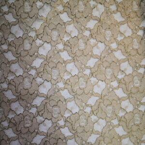 Elasztikus csipke – Keki színben, lurex szállal díszítve