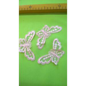 Csipke rátét – Pillangó alakú, rózsaszín