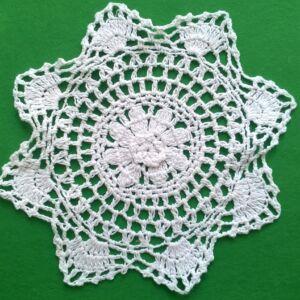 Csipke rátét – Fehér színű, csillag alakú