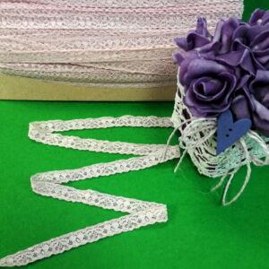 Csipke szalag – Halvány rózsaszín elasztikus műszálcsipke virág mintával