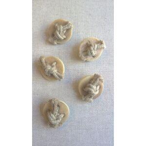 Agancs hatású gomb – Csomóval díszített, 40-es