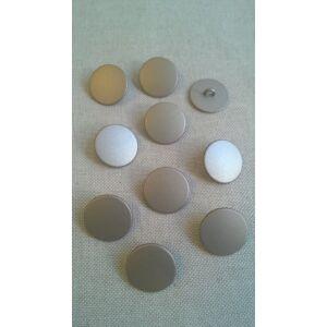 Fém gomb – Matt ezüst színben