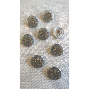Fém gomb – Ezüst színű keretes alapon arany címerrel
