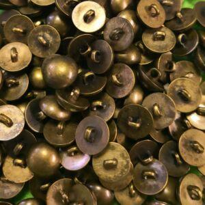 Fémhatású pityke gomb antik arany színben